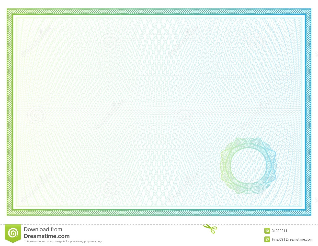 Certificate Vector Pattern For Currency Diplomas Stock Vector Image 31382211
