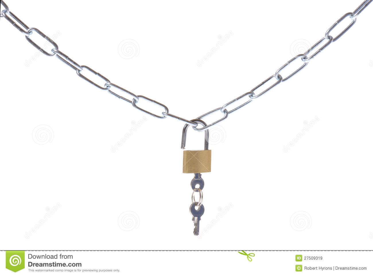 Chain And Lock Royalty Free Stock Photo