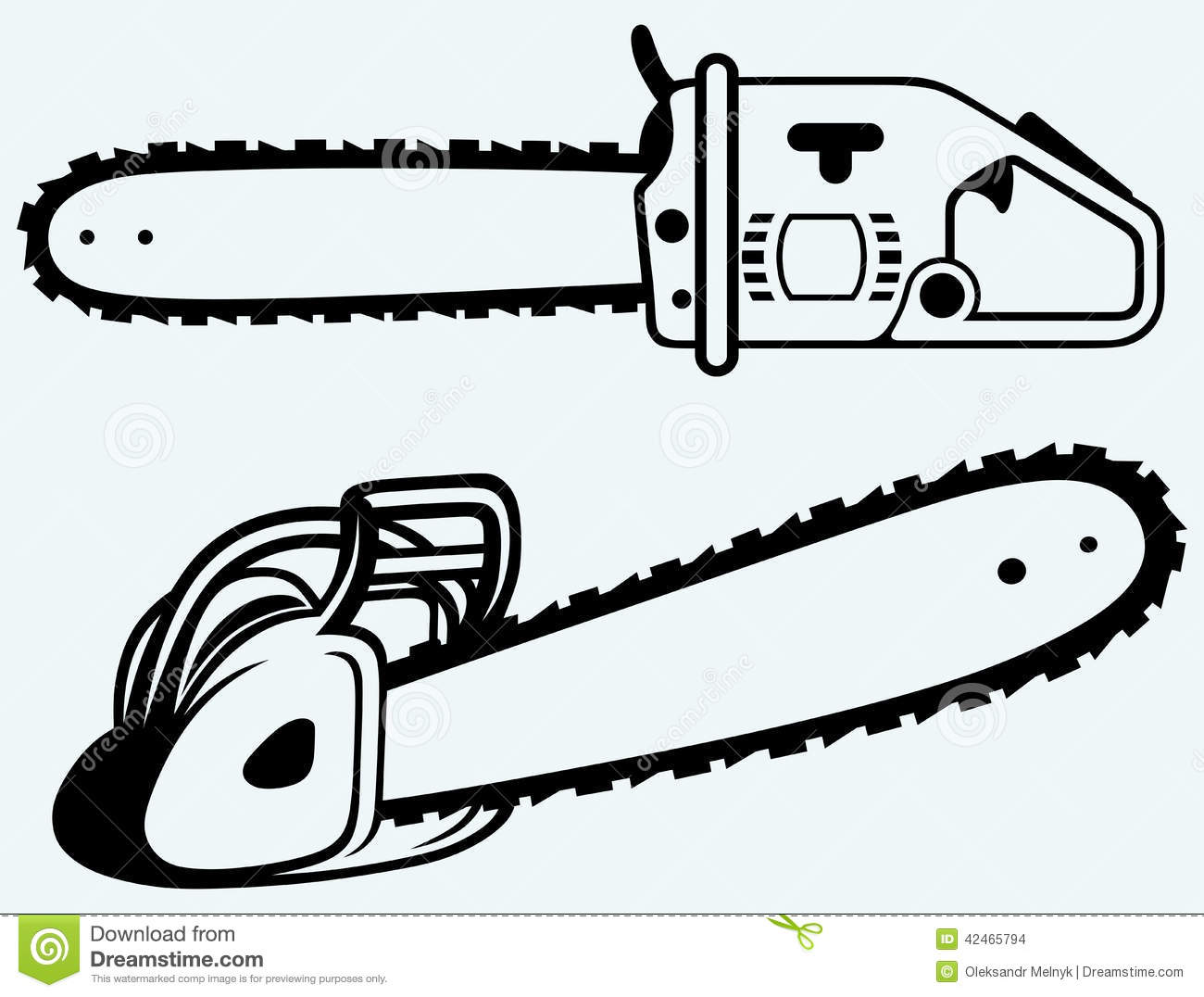 Chainsaw Stock Vector