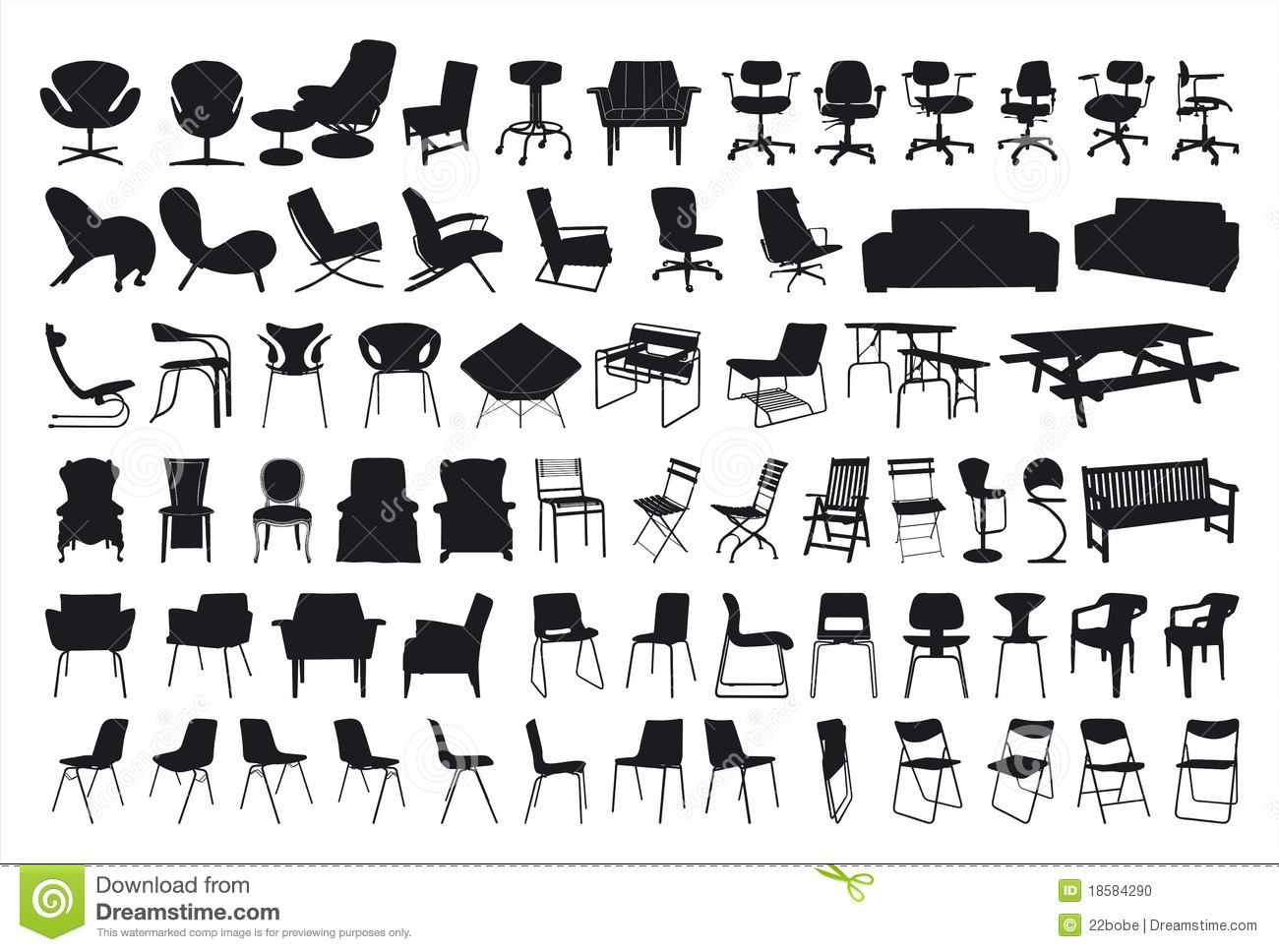 Chair Silhouette Stock Vector Illustration Of Antique