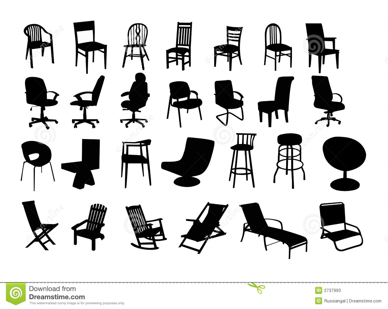 Chairs Stock Vector Image Of Contemporary Conference
