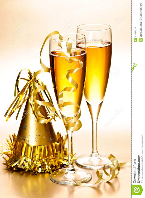 Champagne And New Years Party Decorations Stock Image ...