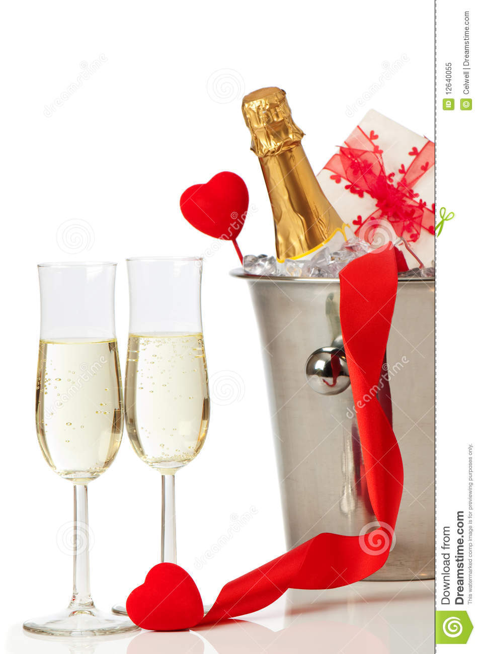 Champagne Valentine Royalty Free Stock Photo Image 12640055