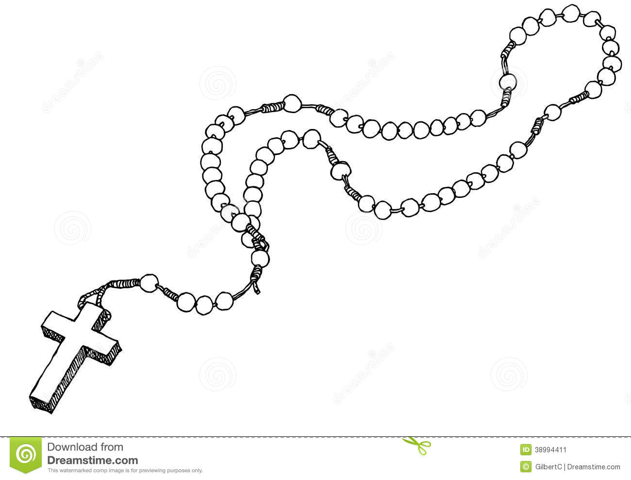 Chaplet Stock Vector Illustration Of Holy Jesus Drawing