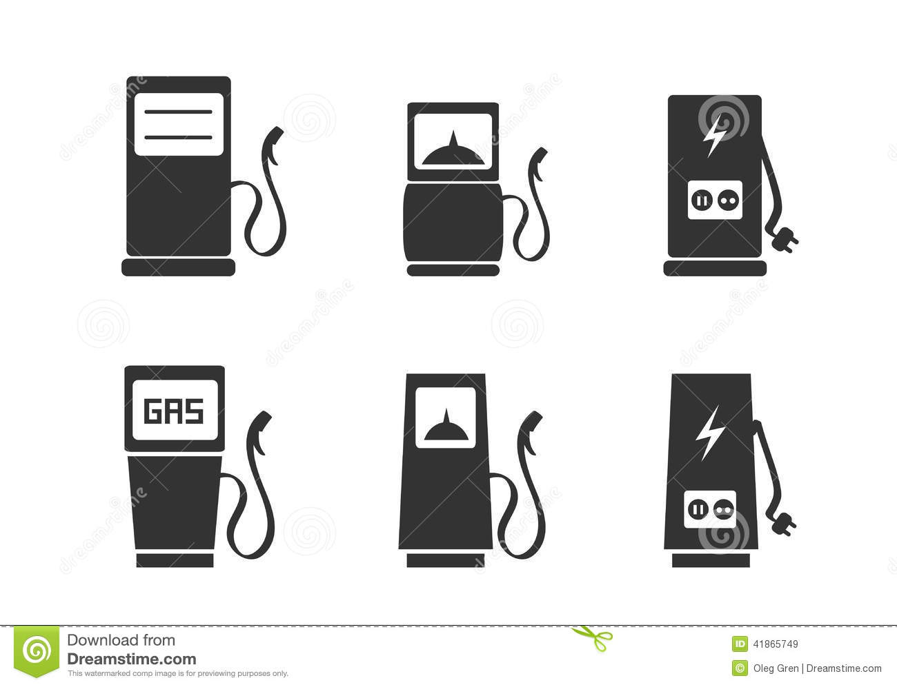 Charging Station Icons Set Stock Vector Illustration Of