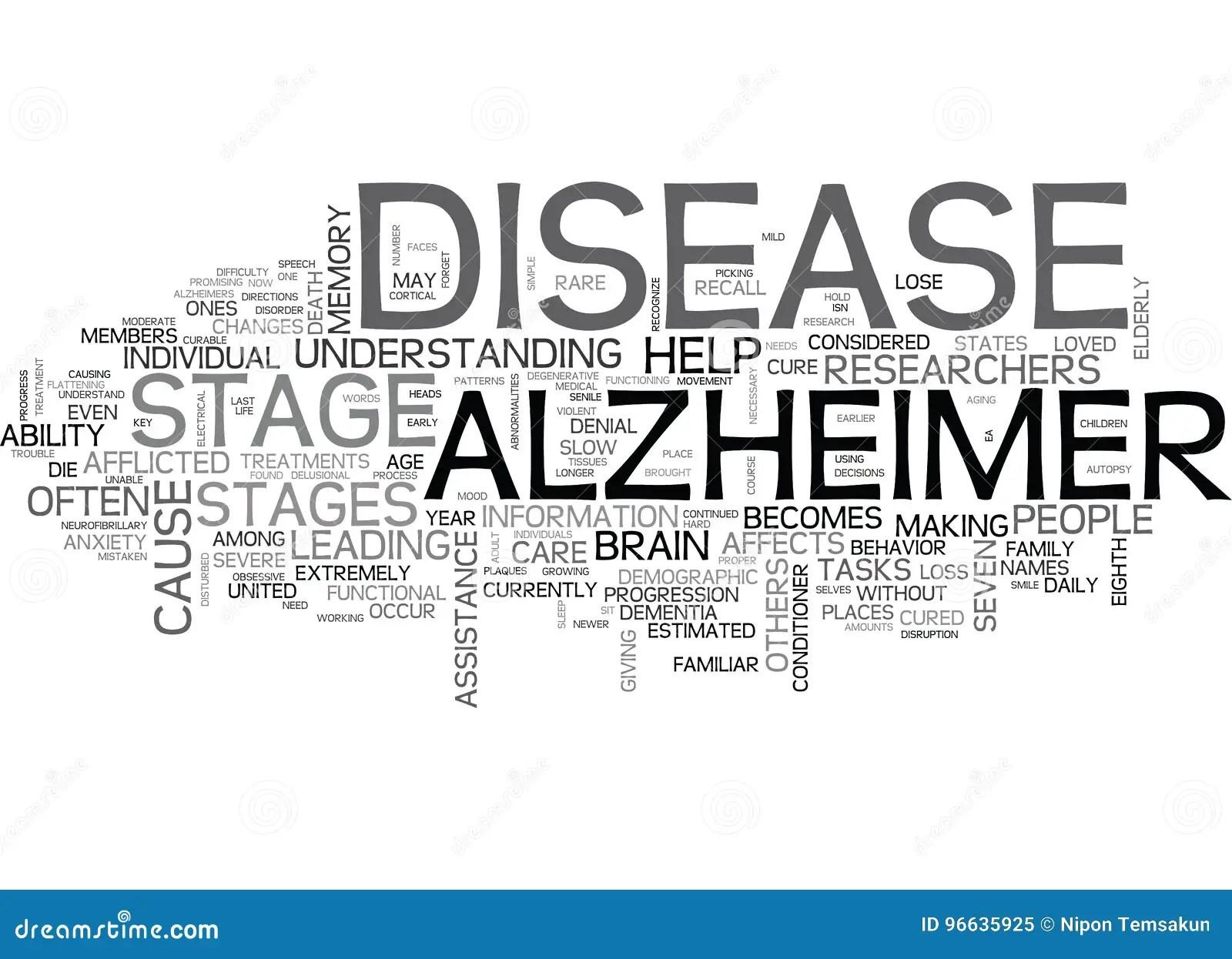 Che Cosa Sono Le Fasi Della Nuvola Di Alzheimer S