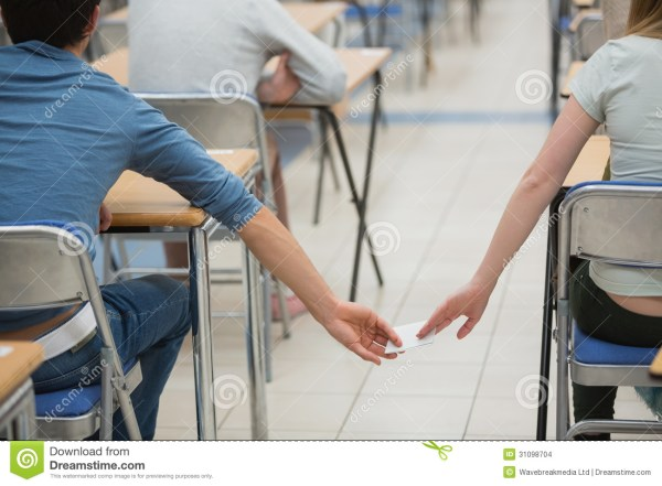 Cheating Students In A Classroom Stock Images - Image ...