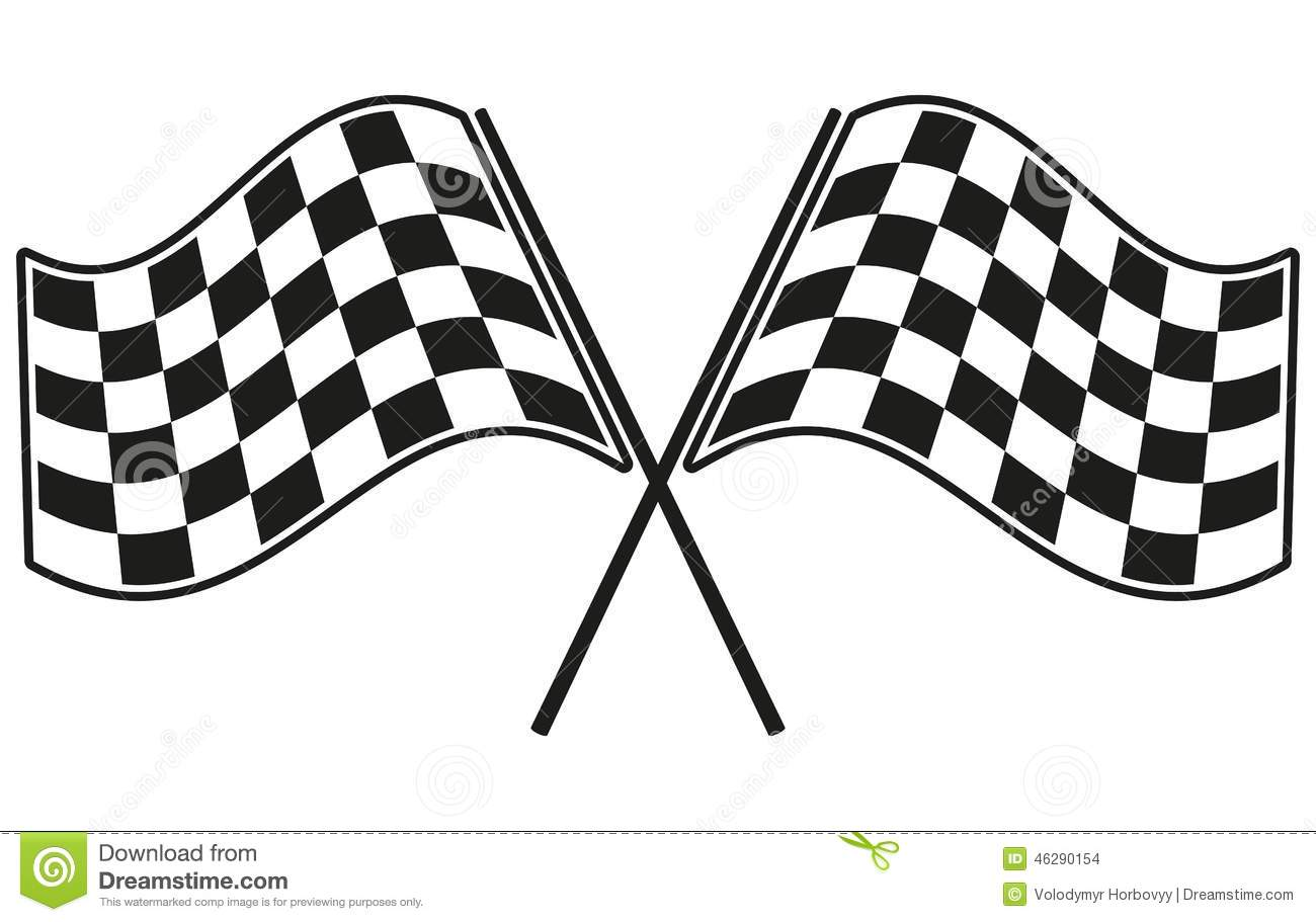 Checkered Flag Racing Stock Vector Illustration Of Race