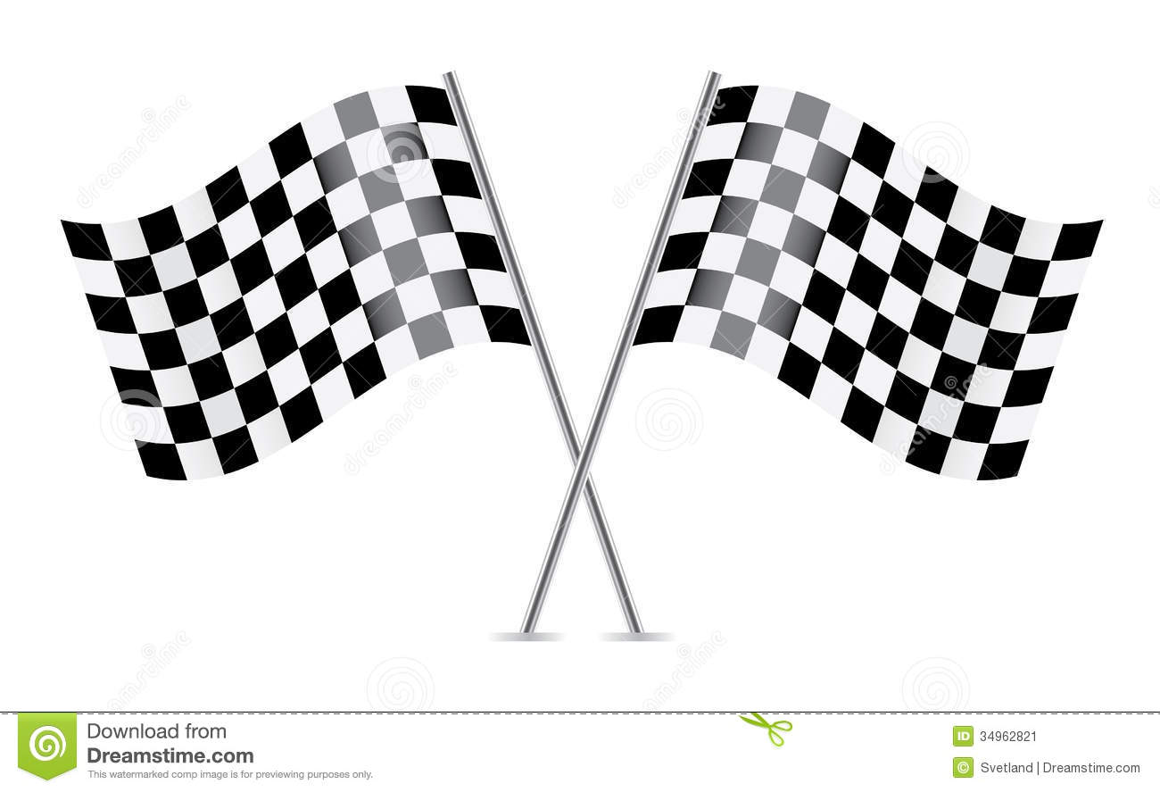 Checkered Flags Racing Flags Stock Vector