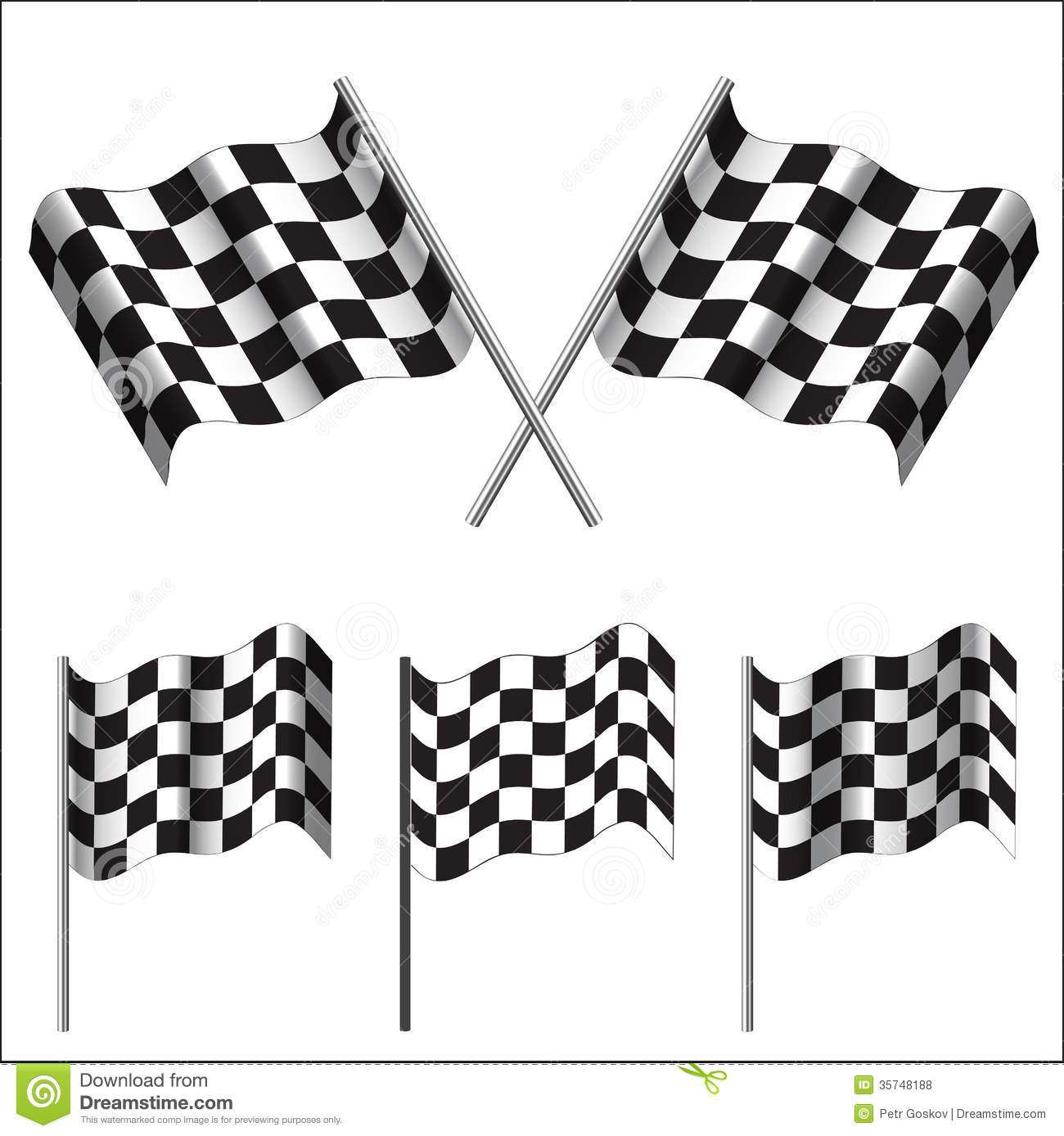 Checkered Flags Racing Vector Stock Vector