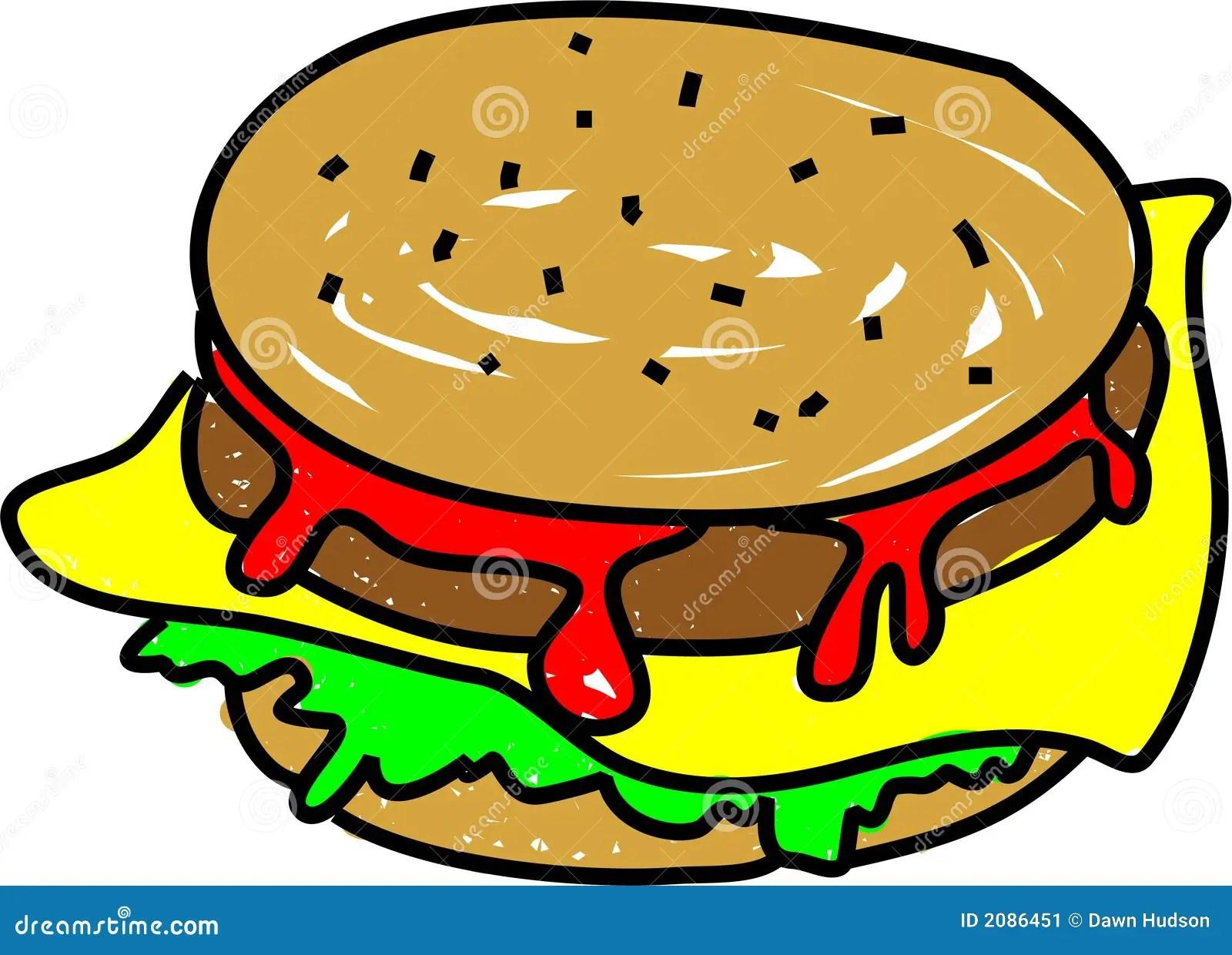 Cheeseburger Stock Vector Illustration Of Illustration