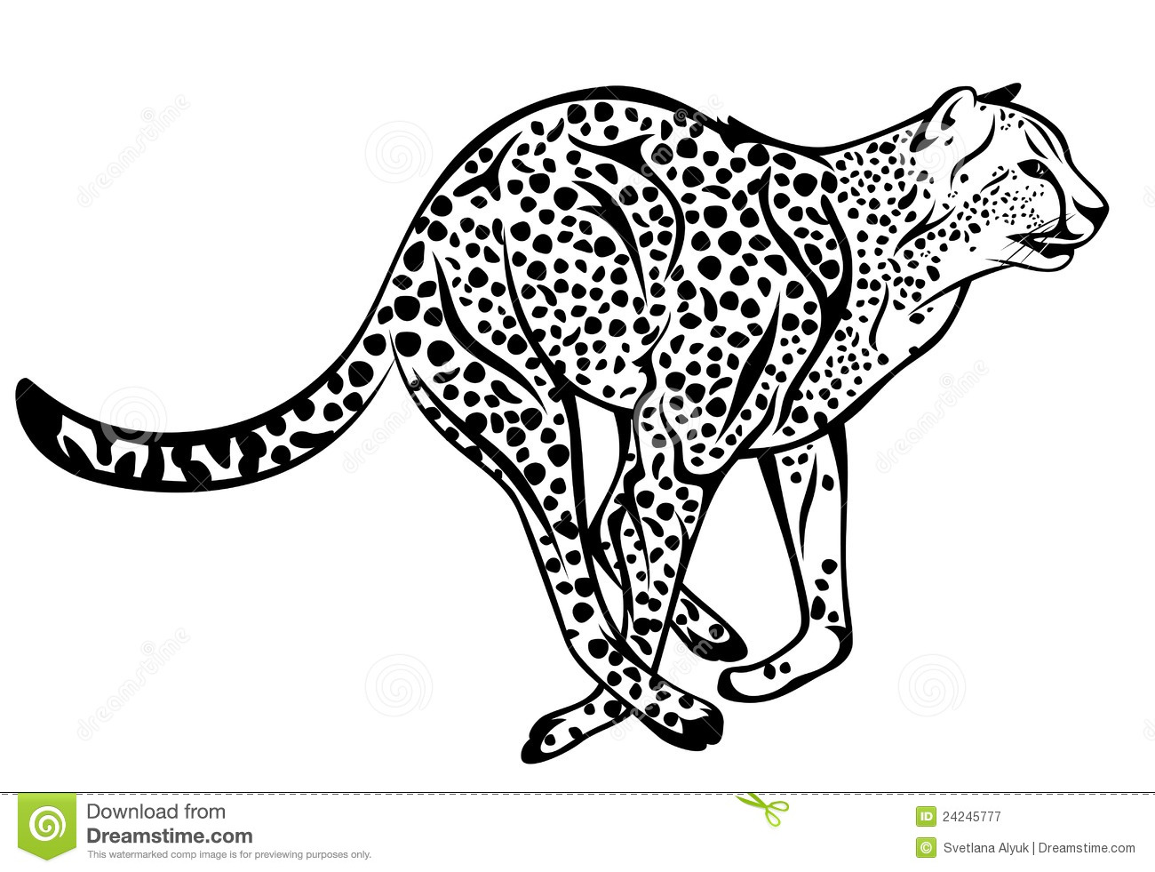 Cheetah Vector Stock Vector Illustration Of Black