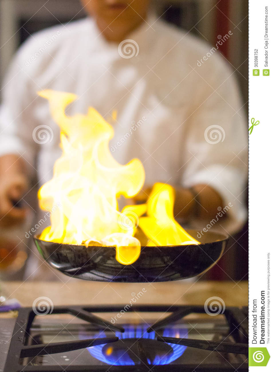 Chef Cooking Stock Photo Image Of Person Burner Food 30398752