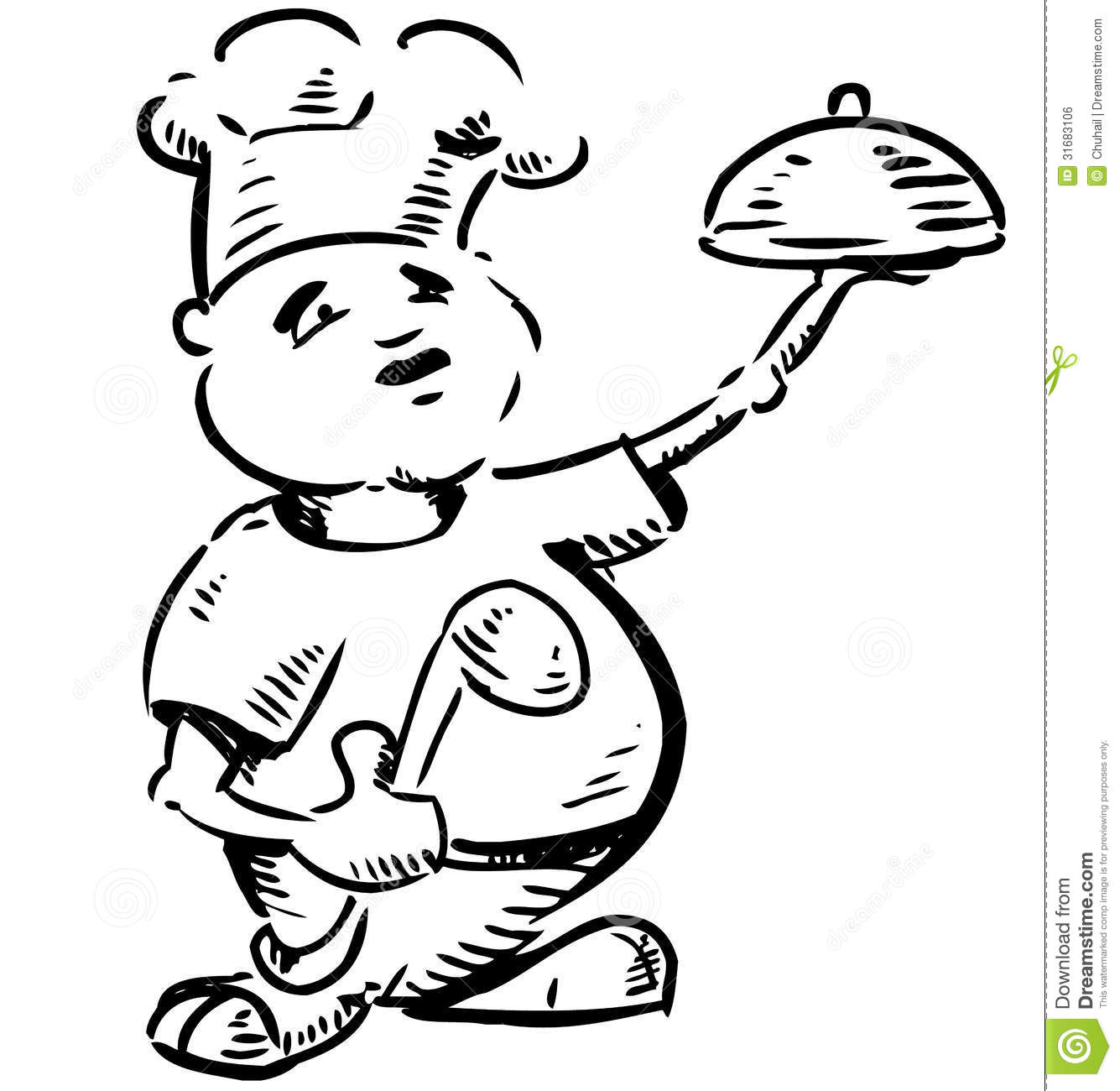 Chef With Tray Of Food In Hand Royalty Free Stock Image