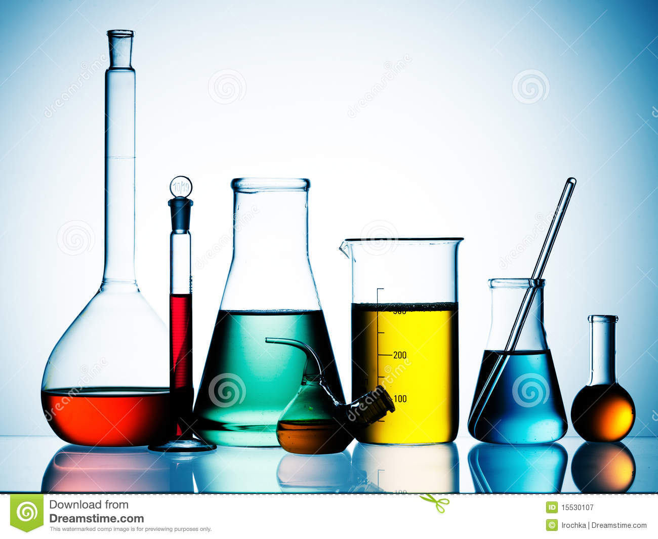 Chemical Glassware Royalty Free Stock Photography