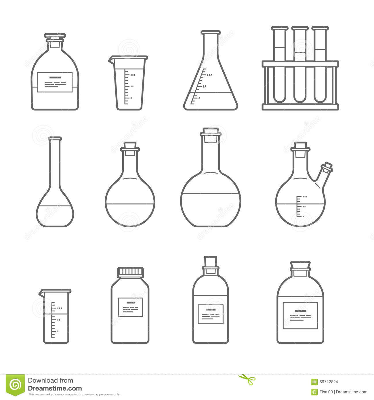 Chemical Glassware Icon Stock Vector Illustration Of
