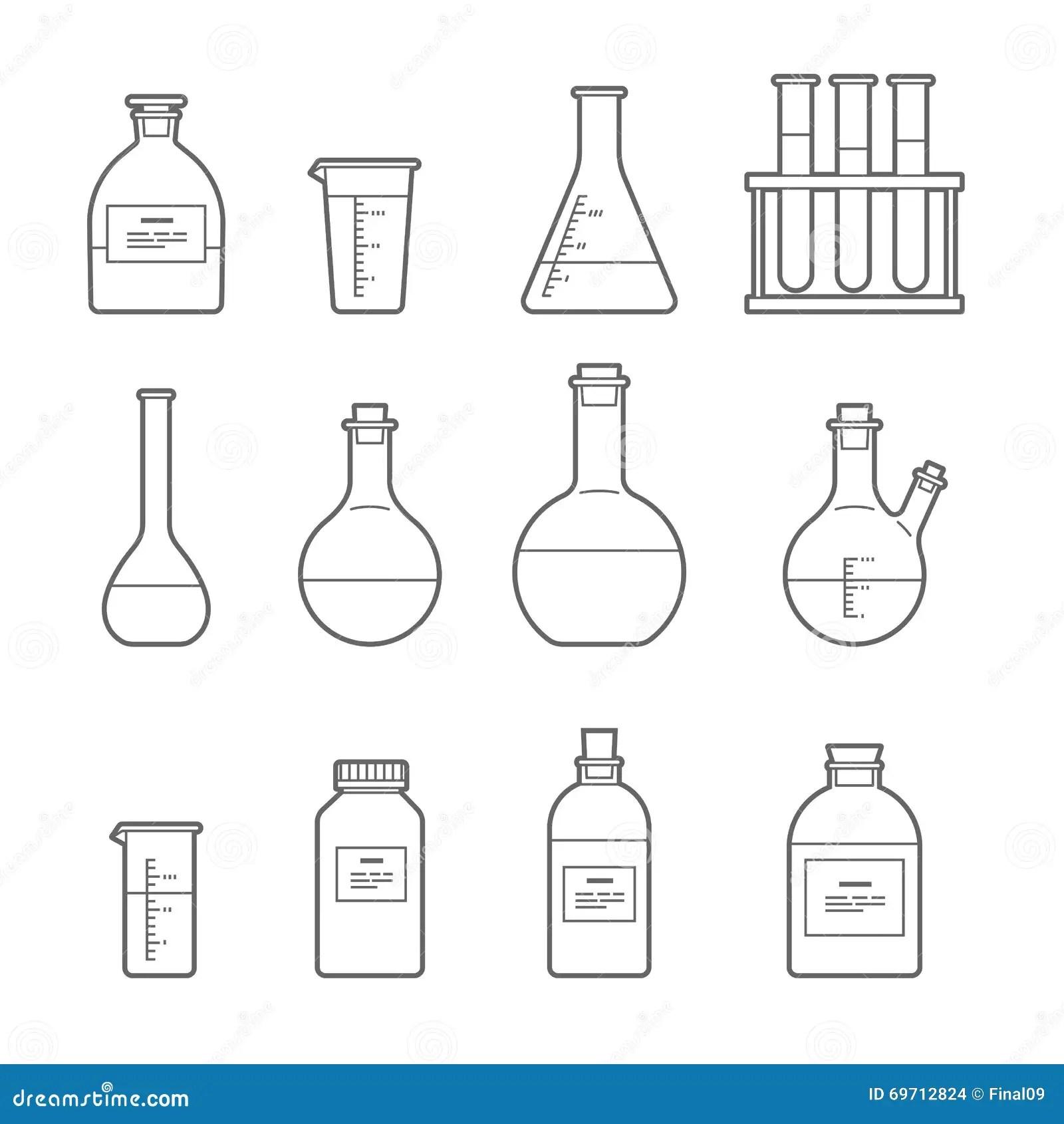 Chemical Glassware Icon Stock Vector