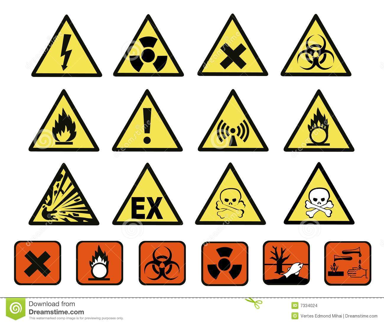Chemical Hazard Signs Stock Vector Illustration Of