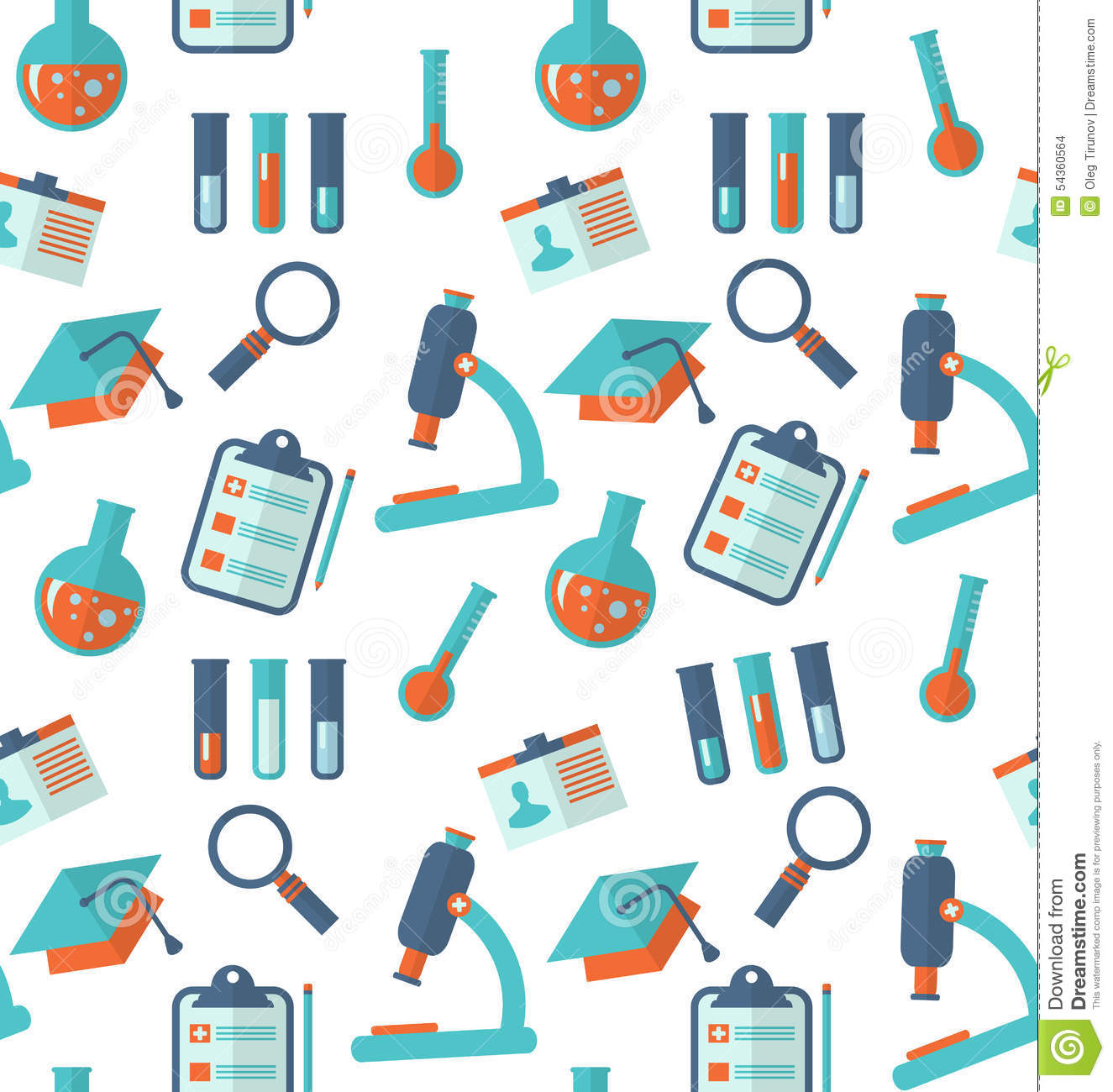 Chemical Seamless Pattern With Different Laboratory