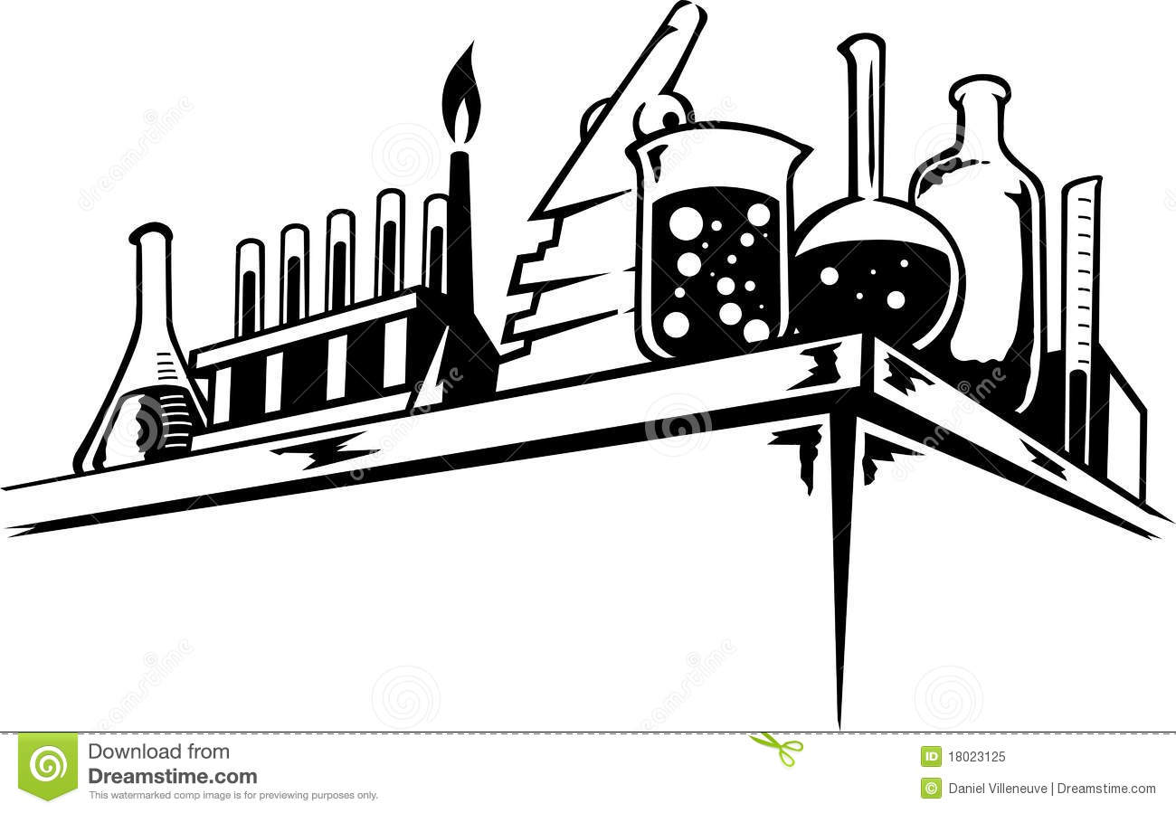 Chemical Table Stock Vector Illustration Of Beakers