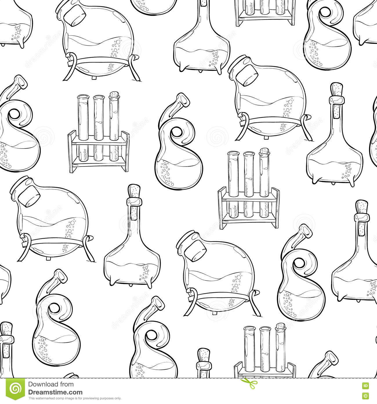 Chemistry Lab Pattern Stock Vector