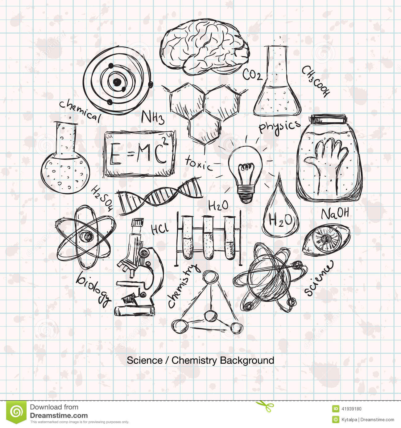 Chemistry Science Background Stock Vector