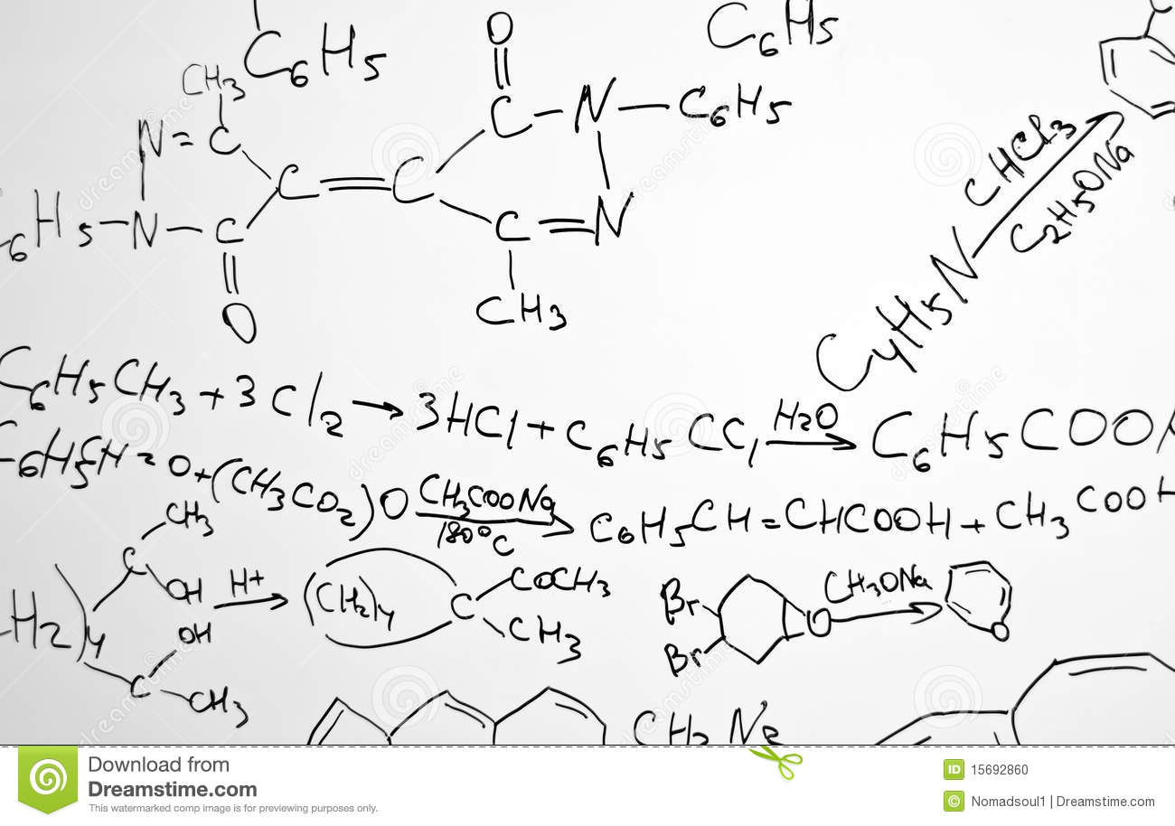 Chemistry Science Formulas Stock Photo Image Of Business