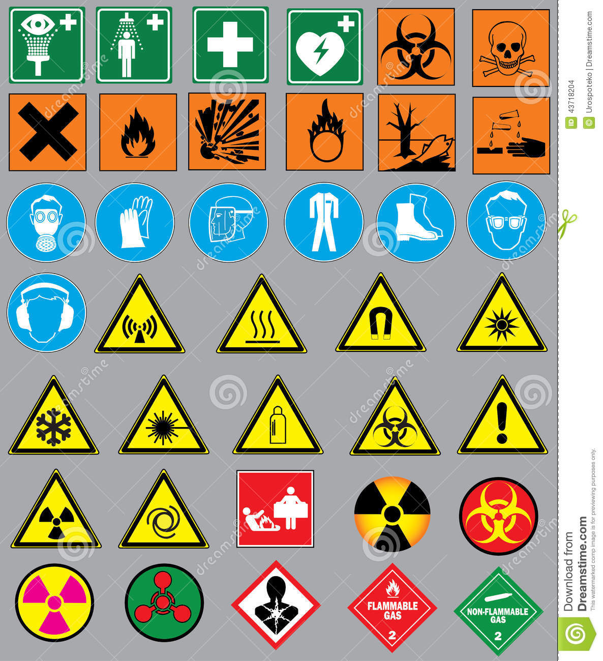 Chem M Laboratory Apparatus Safety Rules Symbols Science