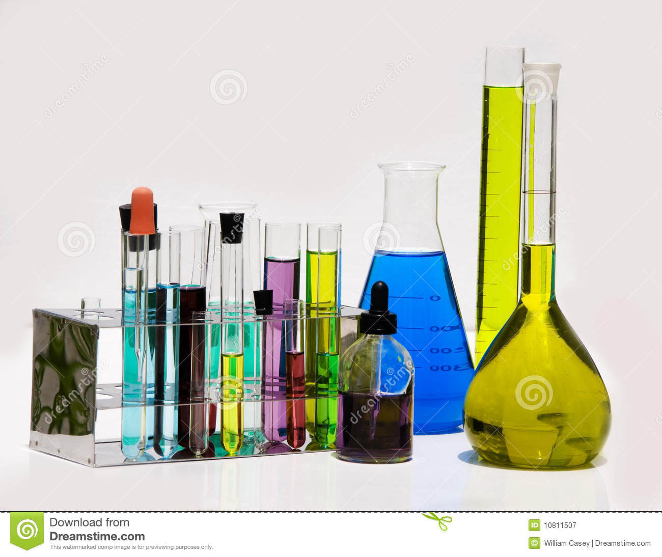 Chemistry Supplies From The Lab Royalty Free Stock Photography