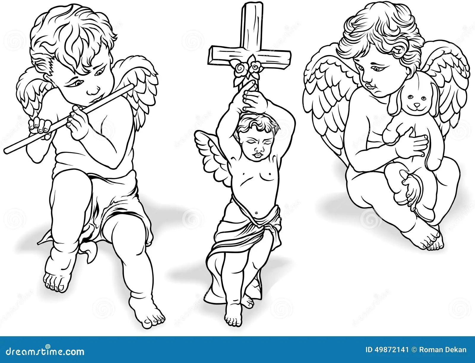 Cherub Set Stock Vector Illustration Of Christian Child