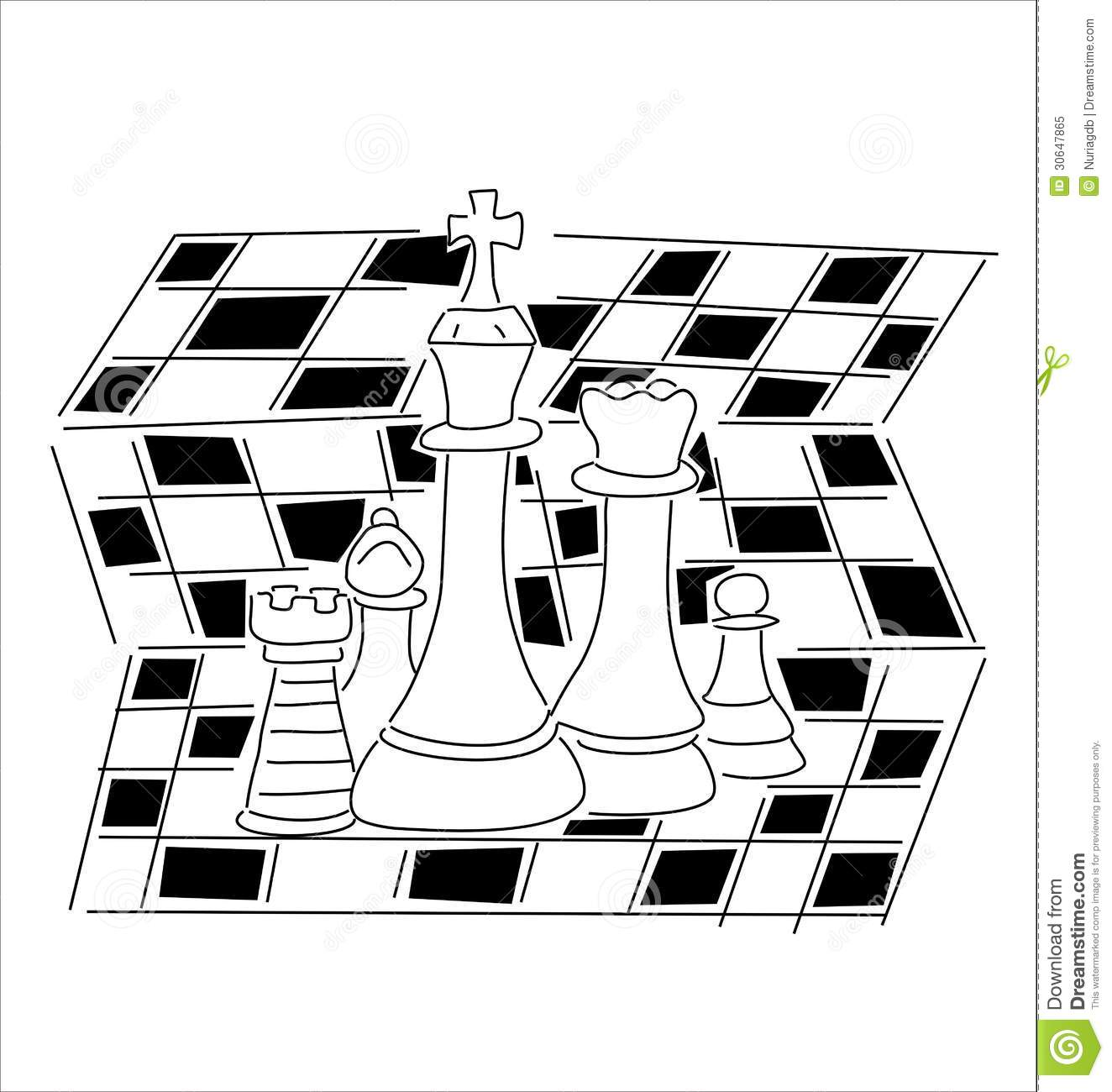 Chess Pieces Stock Vector Illustration Of Chess Game