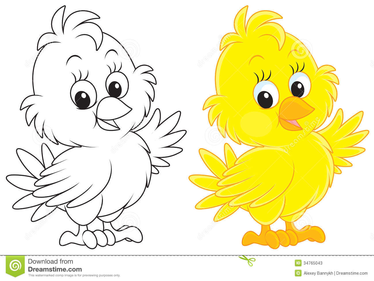 Chick Stock Illustration Illustration Of Chuck Outlined