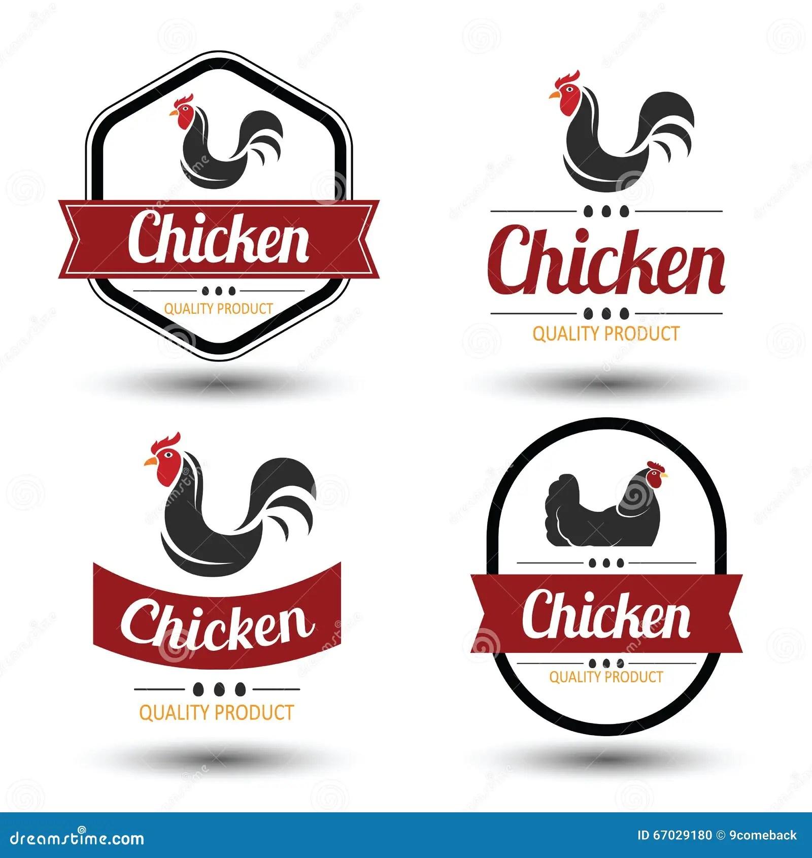Chicken Label 4 Stock Illustration Illustration Of Design