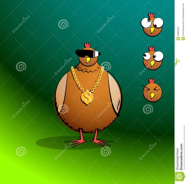 Chickens R Round - Bling Chicky Stock Vector - Image: 39680945