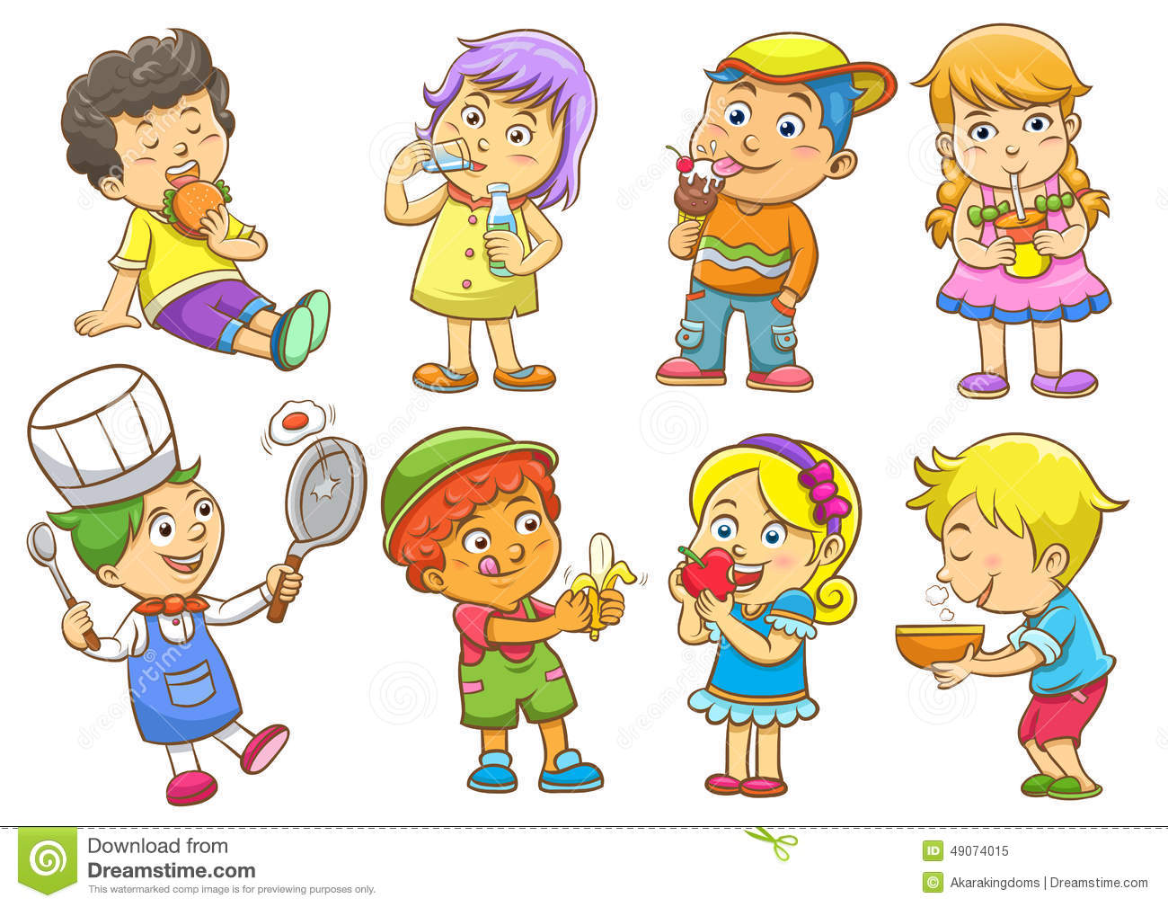 Child Activities Routines Stock Illustration