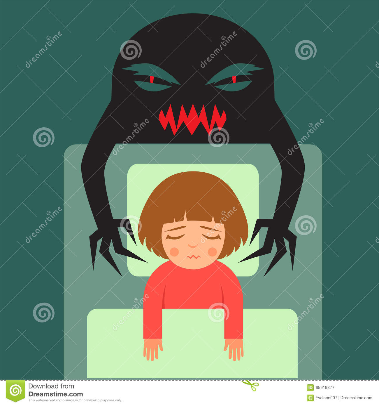 Bad Dream Man Having Nightmare Stock Photography