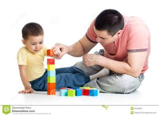 Tips for Islamic Parenting from the Hadeeth Child-his-dad-play-building-blocks-kid-40423821