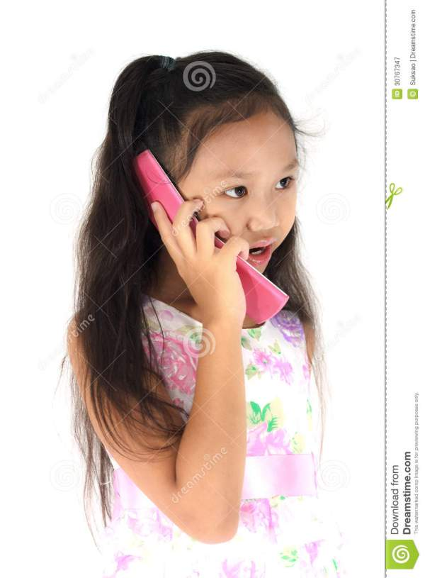 Child mobile phone stock image Image of small message