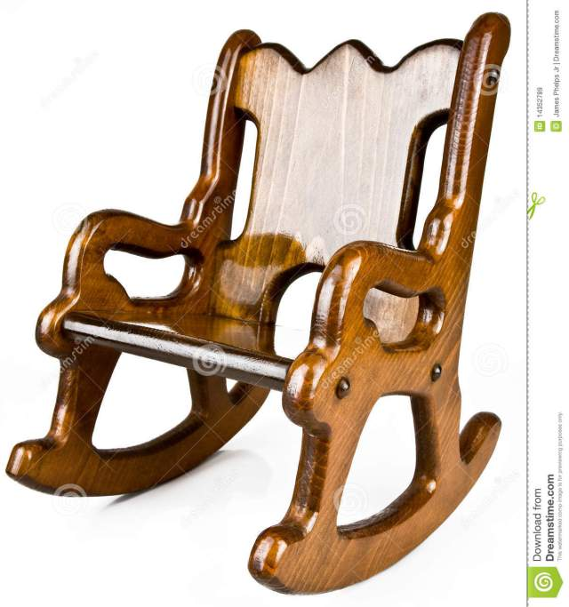 Royalty Free Stock Images: Child s Solid Wood Rocking Chair