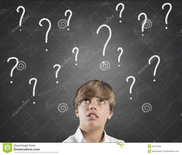 Child Uncertainty About The Future Stock Image - Image ...