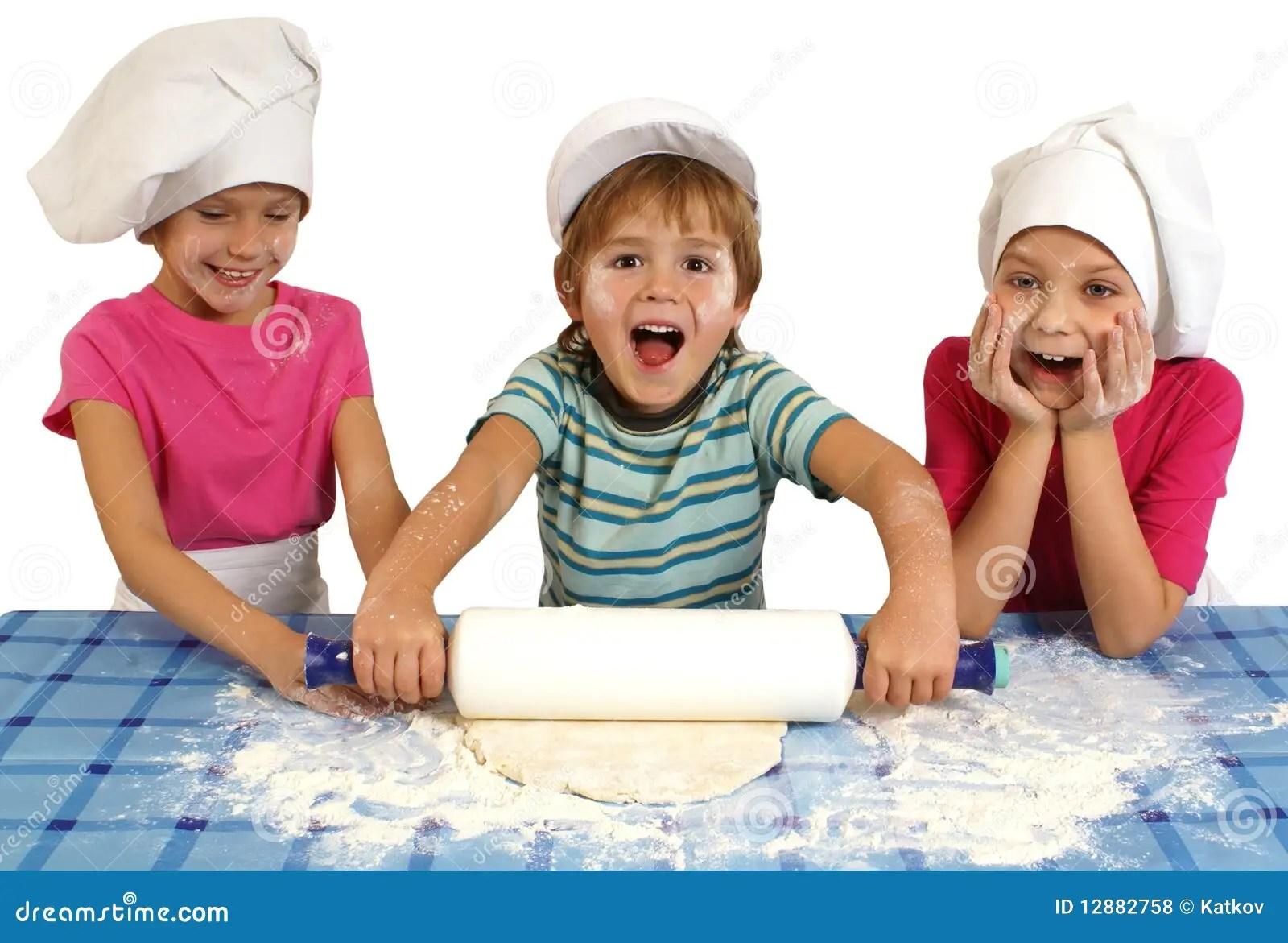 Children Baking Stock Photo Image Of Cuisine Dough