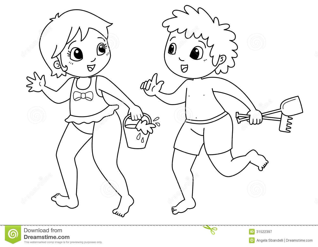 Children Drawing To Color Royalty Free Stock Photography