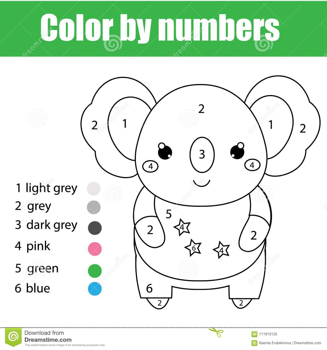 Children Educational Game Coloring Page With Cute Koala