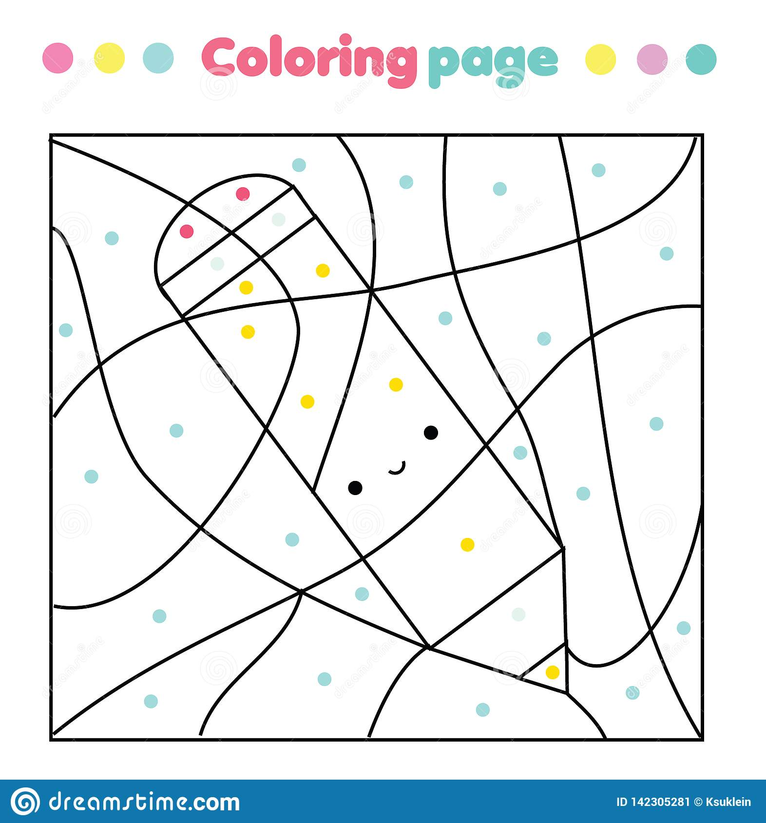 Children Educational Game Coloring Page With Cute Pencil