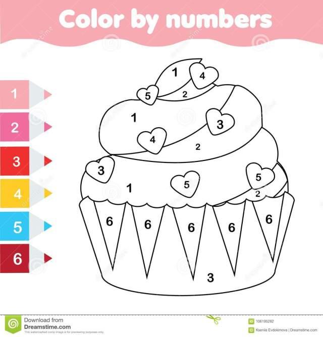 Children Educational Game. Coloring Page with Valentine`s Day