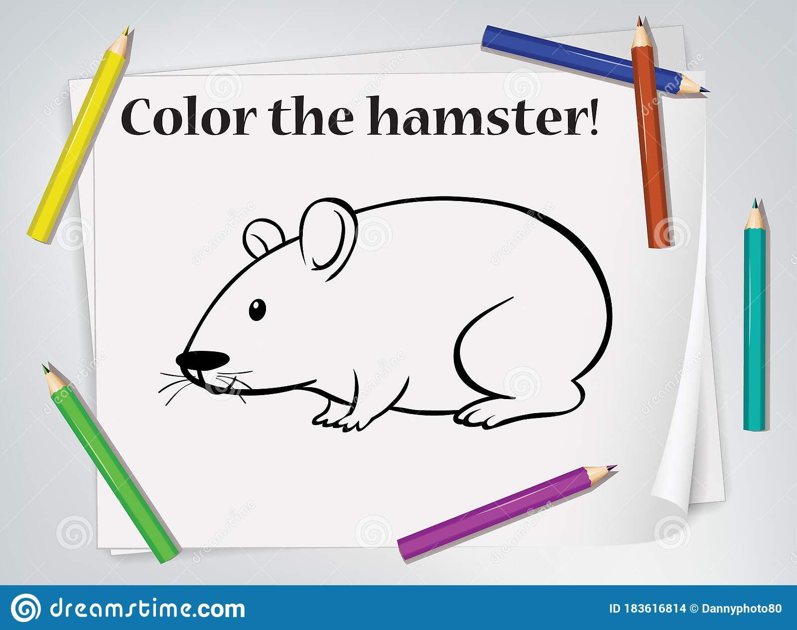Hamster Coloring Stock Illustrations 297 Hamster