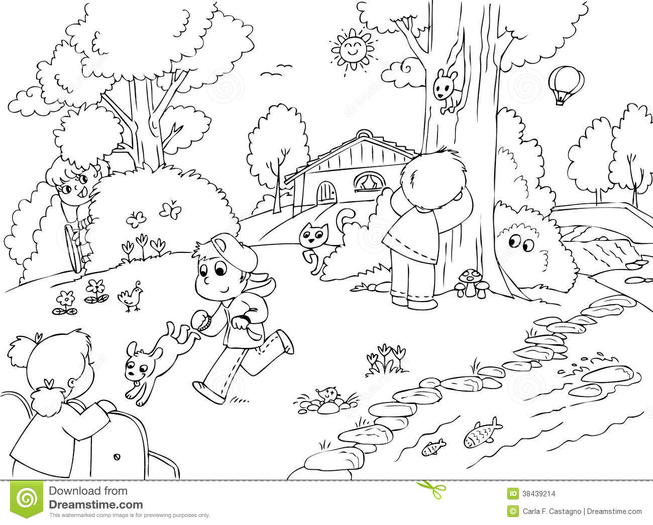 Children Playing Hide And Seek Vector Stock Images