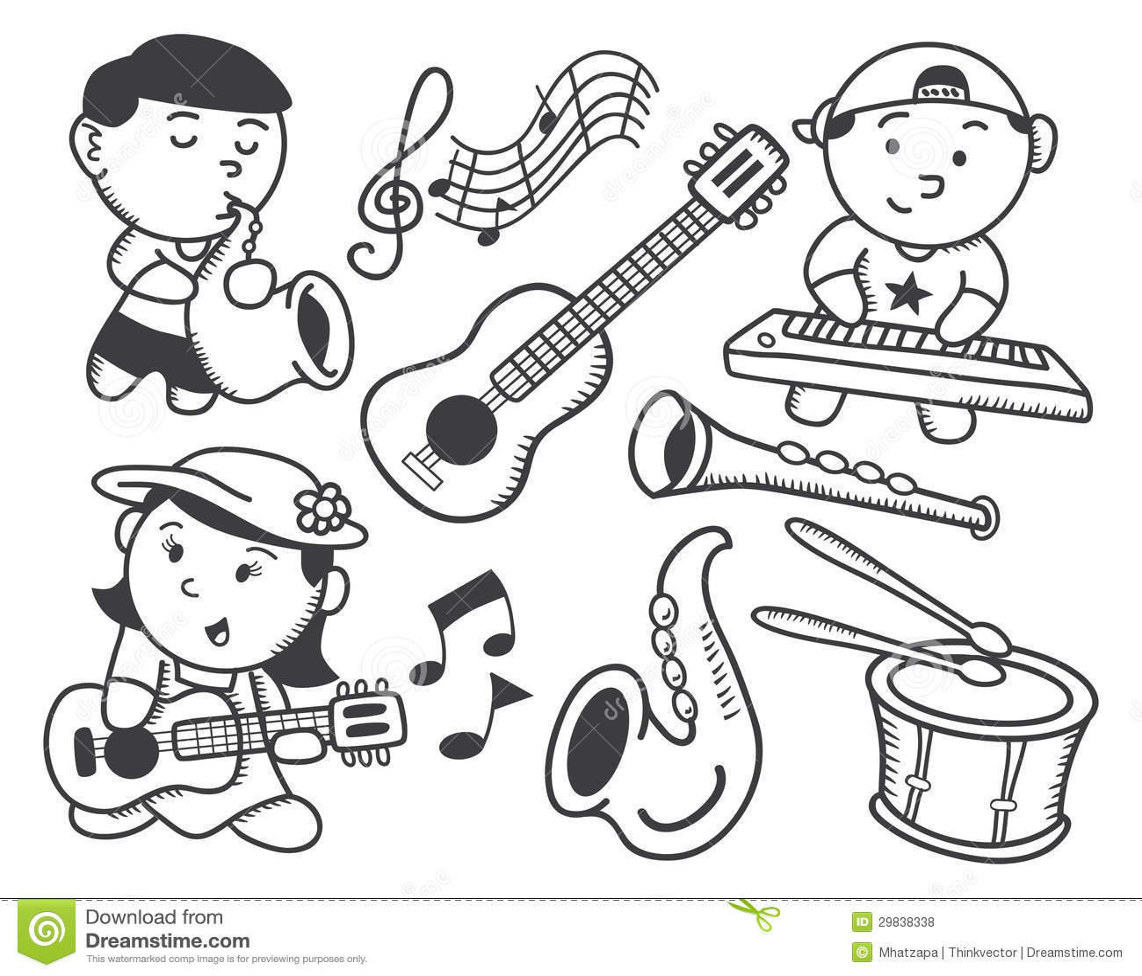 Children Playing Music Royalty Free Stock Photos