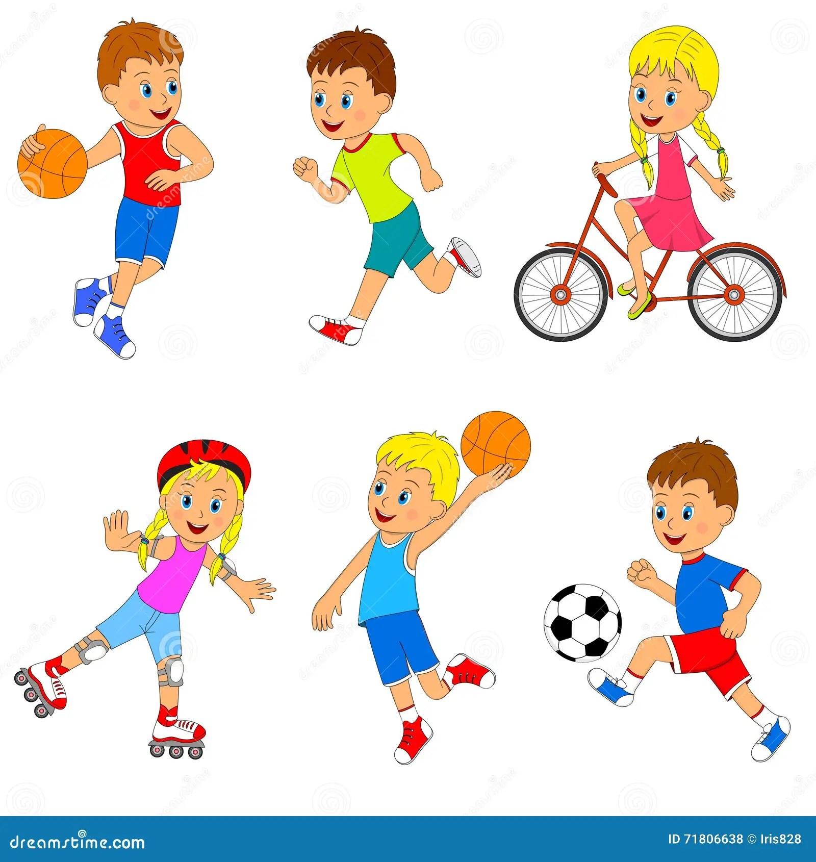 Children S Sports Activity Set Stock Vector