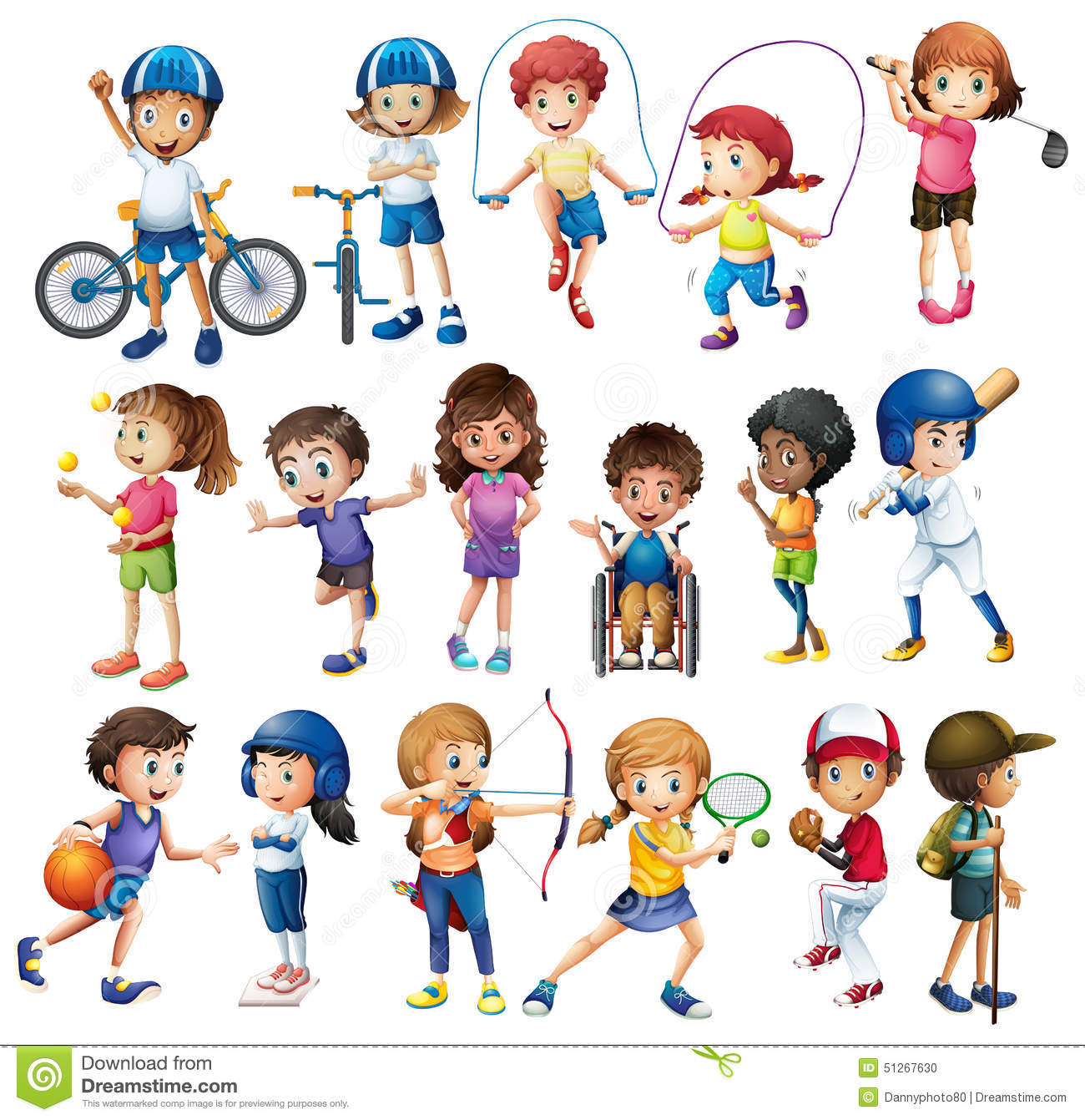 Children And Sports Stock Illustration Illustration Of